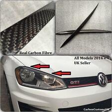 VW Golf MK7 Real Carbon Fibre Headlight Eyebrows/Eyelids All Models 2014 +