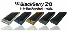 Brushed Metal Skin For BLACKBERRY Z10 Wrap Cover Sticker Protector Case Decal