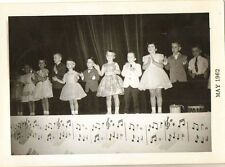 Antique Vintage Photograph Cute Little Children Performing on Stage 1962