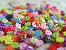 100 pcs colorful color flower buttons size 5 mm