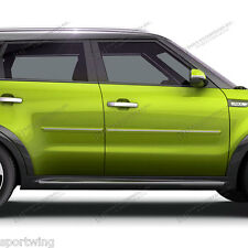 FOR KIA SOUL Painted Body Side Mouldings Moldings With Chrome Insert 2014-2015