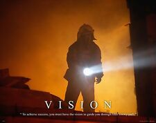 Firefighting Motivational Poster Art Fireman Equipment Badge Helmet Tools MVP203