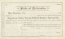 Republican Valley Kansas & South Western Railroad stock