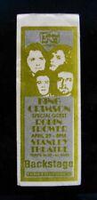 KING CRIMSON+ROBIN TROWER-Rare Original 1974 Unpeeled Backstage Pass-Pittsburgh