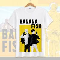 Anime BANANA FISH Ash Lynx Casual Short Sleeve T-shirt Unisex Tops Tee #BF9P
