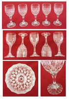 Vintage Mikasa Wine Glasses 6 oz. Wide Vertical Cuts Set of 5