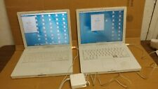 "Lot of 14 Apple iBook G4 Laptops 12.1"" LCD screen Model A1133, A1054,MAC OS X"