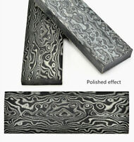 For Knife Handle Blank Blades Scales Handles 3D Damascus Pattern Micarta