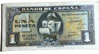Spain 1 Peseta 1940 Banknote