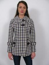 SOIA & KYO ARITZIA PUPLE GREEN WOOL BLEND HOUNDSTOOTH JACKET COAT~XS