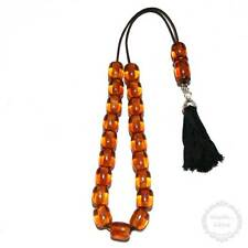Amber Resin 19 beads 11x14mm Handmade Komboloi - Greek Worry Beads - Rosary