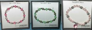 Sensitive Skin Stretch Beaded Bracelets Made with Swarovski Element NEW MSRP $24
