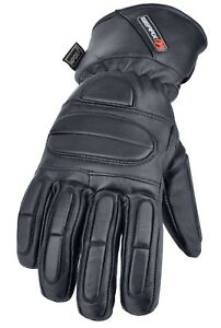 Finger Padded Leather Motorbike Gloves Thermal Waterproof Motorcycle Glove