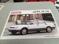 1990 DAIHATSU APPLAUSE Australian Sales Brochure