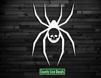 PW0 2 BLACK WIDOW STICKER SET RIGHT /& LEFT BIKE TANK Spider