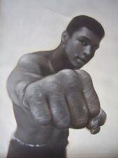 Muhammad Ali 28x16  painting NOT print Framing Avail.Boxing art Tyson legend