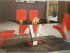 NEW tempered glass Modern Dining Table Glass Top chrome base Dinning Furniture