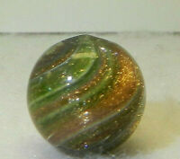 8327m Beautiful Onionskin Lutz Marble Loaded Vintage German .54 Inches *Mint*