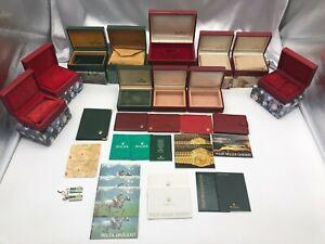 Genuine ROLEX Empty Watch Box Case 11 Set Booklet Tag Rare 210302033 A375