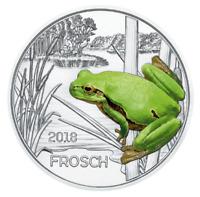 3 Euros Commémorative Autriche 2018 Colourful Creatures Frosch
