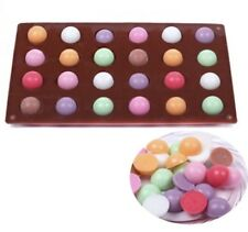 24 Cell Semi Sphere Circle Dome Chocolate Ice Cake Pop Wax Melts Baking Mould