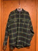 Ralph Lauren Green/Blue/Yellow Broad Plaid Cotton Shirt -XL– EUC