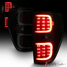 For 09-14 F-150 Black Smoked DRL-Light-Bar LED Tail Lights w/ LED Signal