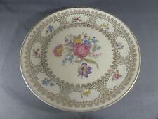Plato antiguo de cerámica folia deco flor art popular old french llanos