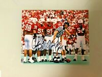 NEBRASKA FOOTBALL CHRISTIAN PETER & JASON PETER SIGNED PHOTO D-LINE G. WISTROM