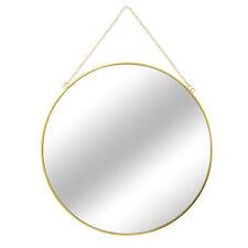 Wandspiegel Hängespiegel Dekospiegel Badspiegel Gold + Kette Spiegel Rund Ø60cm