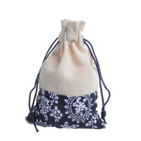 10Pcs//lot Vintage Drawstring Bags Printing Ethnic Style Linen Pouch Party Supply