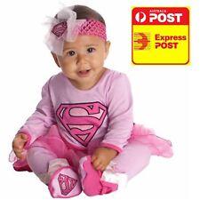 BABY GIRL PINK SUPER GIRL INFANT COSTUME 6-12MONTHS