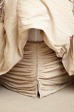 NWT ANTHROPOLOGIE GEORGINA SAND BEIGE TWIN BEDSKIRT BED SKIRT *BRAND NEW*