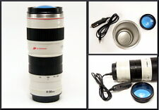 Caniam Car Heated Camera Lens Travel Coffee Mug Stainless Steel Flask Thermos