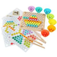 Montessori Clip Beads Toy Hands Brain Training Kids Educational Puzzle Game G #s