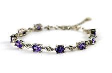 925 Sterling Silver Bracelet With Amethyst
