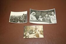 Evita  EVA PERON  and husband  3 historical original photographs   ARGENTINA b