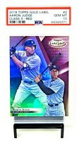 2018 Topps Gold Class 3 Red Yanks AARON JUDGE Card /25 PSA 10 GEM MINT / Pop 2
