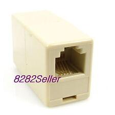 10pcs Rj11 6P4C Inline Extension Modular Coupler Direct TelePhone Extender Fax