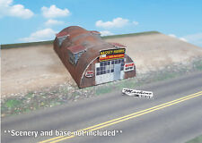 N Scale Building - Quonset Hut **Pre-Cut** CARD STOCK (PAPER) Pre-Cut Kit #QH2N
