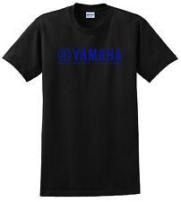 YAMAHA FACTORY RACING T SHIRT BLACK BLUE YZF R1 R6 YFZ YZ