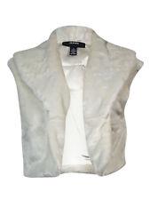 Alfani Womens 10877 Ivory Cropped Faux Fur Bolero Jacket L