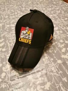 Adidas Chiefs 3 Stripe Cap - Youth - Black - SupeRugby - Warren Gatland - BNWT