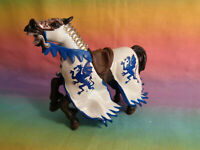 2004 Papo Medieval Brown Horse Replacement Figure White / Blue Dragon Armor