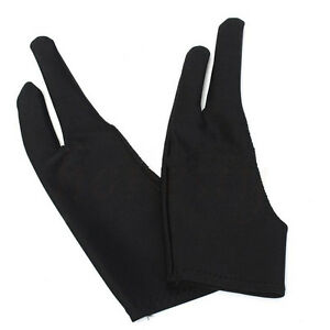 2pcs Two Finger Anti-fouling Glove For Artist Drawing & Pen Graphic Tablet Pad