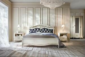 Italienische Stil Schlafzimmer Komplett Möbel Bett Nachttisch Schrank Kommode 2