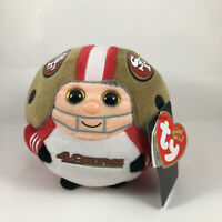 "TY NFL 5"" San Francisco 49ers Beanie Ballz Plush New with original Heart Tags"
