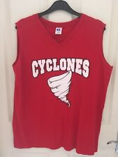 Vintage Basketball Jersey Red Cyclones Size M
