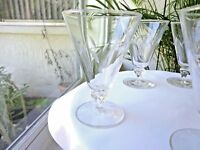 Libbey Rock Sharpe 1956 Simplicity Clear Crystal Water Glass