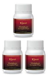 3 x Cosway K'zanah Manjakani Serapat Plus Improve Menstrual Flow ( 60 Veg Caps )